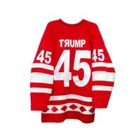 Ucuz Özel 1980 Vintage Trump 45 Sovyetler Birliği CCCP Milli Takımı Hokey Jersey Herhangi bir sayı ve isim boyutu 2xs-3XL en kaliteli