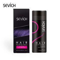 Keratin Saç Fiber 25g Saç Bina Lifleri İnceltme Kaybı Kapatıcı Şekillendirici Toz Sevich Marka Siyah / DK Kahverengi 10 Renkler