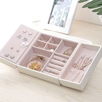 Jewelry Box Multi- grid Jewelry Casket Double Open Portable J...