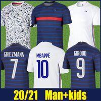 2020 프랑스 축구 유니폼 국립 대표팀 2 별 남자 키트 포기 Griezmann Mbappe 축구 유니폼 Giroud Dembele Kante Maillot de Foot
