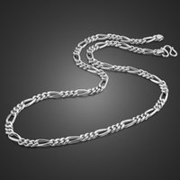 """سلاسل أزياء 100٪ 925 الفضة الاسترليني الرجال قلادة كوبان رابط سلسلة 6 MM22 """"الذكور مجوهرات هدايا للرجل"""