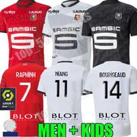 남자 아이 (20 개) (21 개) 렌 축구 유니폼 2020 2021 Raphinha 니앙 테리어 J.MARTIN 스타드 렌 FC BOURIGEAUD 홈 멀리 축구 셔츠