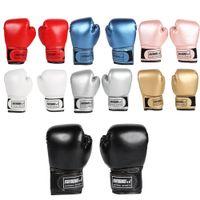 2pcs de boxe d'entraînement Gants en cuir PU lutte contre les enfants respirant Muay Thai Sparring Punching Karaté Kickboxing professionnel Gant