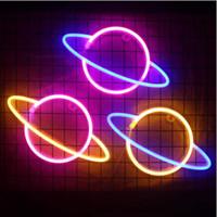 Luzes da noite Novo LED Star Neon Light LED Neon Quarto Decoração Suave luz luzes da noite