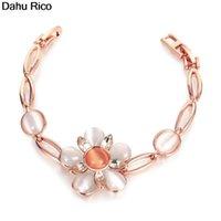 Charme Armbänder Pflanze Armband Bransoletka Frauen für Mädchen de Piedras Charms Dijes White Rose Metal Chinese Market Online Egi Dahu Rico