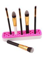 Maquiagem Silicone escova Armazenamento boxs Makeup Brush Holder cremalheira escova prateleira Cosméticos Ferramenta Kit armazenamento caso Organizador GGA3709-2