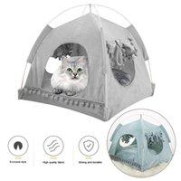 الحيوانات الأليفة سرير لعش القطط الكلاب لينة بيت الكلب سرير كهف البيت حقيبة النوم القابل للإزالة بساط الوسادة خيمة الحيوانات الأليفة شتاء دافئ دافئ