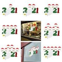 2020 검역소 가족 스티커 포스터 크리스마스 장식 크리스마스 파티 벽 창 홈 장식 키즈 선물 만화 장난감 1234567F91207 호의