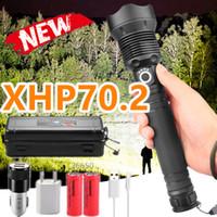 2020 ألمع 11.11 LED XLAMP XHP70.2 USB زوومابلي 3 طرق الشعلة 26650 بطارية قابلة للشحن انخفاض الشحن