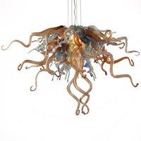 Ultime lampade a sospensione di design classico Unico elegante a mano a mano a led in vetro soffiato lampadari vintage piccolo lampadario