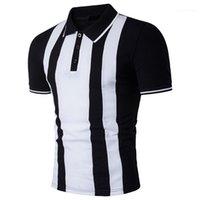 Sommer Short Sleeve Plus Size T-Shirts Gestreiftes Panelled Tops Männlich Kleidung der Männer 2020 Luxusdesigner-T-Shirt