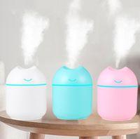 Humidificadores de aire USB Ultrasonic Mini aroma perfumado Difusor de aceite esencial creativo Humidificador de oficina Humidificador de escritorio Humidificador portátil HHD1606