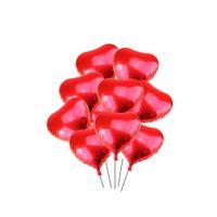 I lager Bröllopsartiklar Jag älskar dig Hjärtformad Persika Hjärta förtjockad latexballongliftballong 18 tums röd aluminiumfilmballong