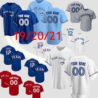 Custom Toronto Vladimir Guerrero Jr. Blue Jays Jersey Roberto Alomar Carter Randal Grichuk Smoak Royal Stroman Baseball Jersey High