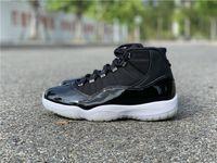 Novo 11 XI 25º Aniversário Homens negros Sapatos de basquete 11s Sports Sneakers Treinadores com caixa Top Quality Tamanho 7-13