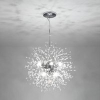 Ronde LED Hanglamp Zilver Kleur Firefly Lamp Art Decoratie Opknoping Lampen Keukeninrichting Dining Woonkamer Luminaire Verenigde Staten Lokaal Warehouse-L