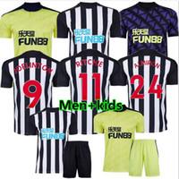 Новые 20 21 NUFC Футбол Джетки Shelley 2020 2021 Joelinton Футбольная рубашка Almiron Ritchie Gayle Equipment Men Kits Kits