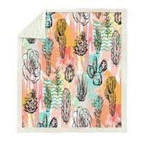 Decken Baumserie Wurfdecke Kaktus Strand Muster gedruckt für Sofa Samt Plüsch Sherpa Fleece Microfaser Warm Couch Couch