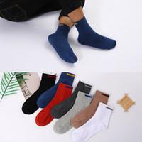 Sinal de pano sólido design Merino lã meias recentemente outono inverno homens homens tripulação meias de lã mens meias vendendo 10 partes / lote