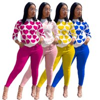 Women fall winter casual clothing S-2XL hoodies pants fashion 2 piece set long sleeve tracksuits pullover+leggings outfits capris DHL 3805