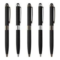 500pcs / lot Yeni reklam 2 1 ofis iş hediye kalem dokunmatik ekran metal tükenmez kalem toptan özel logo