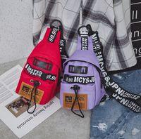 Favocent Грудь Сумка Женщины 2020 Новый холст Отдых пакет для девочек Письмо Bum Bag Packs моды Chest Crossbody пояс