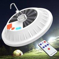 야외 캠핑 홈을위한 120W 60W 충전식 LED 전구 램프 원격 제어 태양 광 충전 랜턴 휴대용 비상 야시장 빛