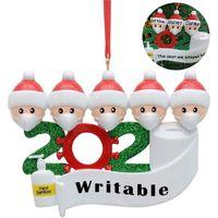 2020 Karantina Noel Doğum Parti Dekorasyon Noel Baba Maske Kişiselleştirilmiş Aile Mesafenin Süsleme Dekor DDA529 Asma ile