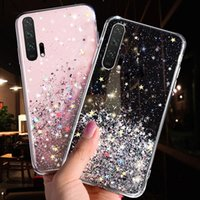 LOVECOM Luxury Gradient Glitter Star Phone Case For Huawei P40 P20 P30 Pro Lite Mate 20 Pro Transparent Soft Phone Back Cover