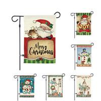 30 개 * 45cm 크리스마스 플래그 인쇄 배너 하우스 깃발 산타 클로스 정원 깃발 크리스마스 파티 플래그 크리스마스 홈 장식 DHL 무료 배송
