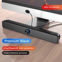 Freeshipping USB Altavoz de la computadora Bluetooth Bluetooth Barra potente Subwoofer Subwoofer Bass Shower Sound Barra para PC Laptop TV AUX 3.5mm
