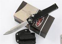 """Yüksek kaliteli Microtech Siyah Klasik Halo V Tanto Bıçak Bıçak (4.6"""" Saten) 150-4 tek eylem oto Taktik bıçak Survival dişli bıçaklar"""