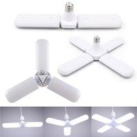 YENİ 30W 45W 60W E27 LED Ampüller SMD2835 Süper Parlak Katlanabilir Fan Blade Açısı Ayarlanabilir Tavan Lambası Ev Enerji Tasarrufu Işıklar