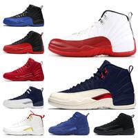Jumpman 12s Erkek Basketbol Ayakkabı FIBA oyun kraliyet 12 Michigan Üniversitesi Mavi Spor Kırmızı Ters Taksi Bulls OVO Yün Eğitmenler Spor Spor ayakkabılar