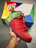 2020 Authentic SB High Dunk Strawberry Cough Lila Reverse-Skunk 213/420 Basketball-Schuh-Männer Universität Red Spinat Grüne Magie Ember