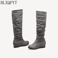 BLXQPYT Plus Botas Mujer Plus Big&Small Size 28-52 shoes Woman Boots Winter Spring Autumn Increasing Comfortable Casual Y-25