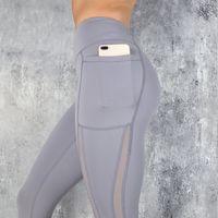 SVOKOR Fitness Frauen-Gamaschen-Push-up Frauen mit hoher Taille Taschen-Workout Leggins beiläufige Art und Weise Gamaschen Mujer 3 Farbe 200921