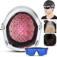 머리 재성장 레이저 헬멧 (64) 의료 다이오드 치료 탈모 솔루션 헤어 빠른 재성장 LLLT 레이저 캡 무료 유리