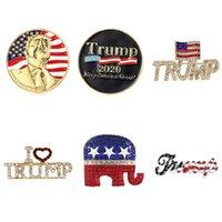 2020 الولايات المتحدة العام دبابيس الانتخابات ترامب بروش الأزياء الوطني ترامب دبابيس دبابيس شارة ترامب بروش المجوهرات بالجملة