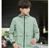 Color Jackets Hooded Long Sleeve Mens Coats Spring Mens Outw...