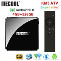 MECOOL KM3 ATV 4GB RAM 128GB Android TV Google Certified Android 10 TV Box Amlogic S905X2 4K Dual-Wifi BT4.0 Set-Top-Box KM9 Pro