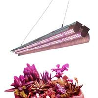 2 ft 3 ft 4 ft T5 HO LED Kapalı Bitkiler için Reflektör Combo ile Işık Full Spectrum 96W T5 Yüksek Çıktı Entegre Çift Tüp Bar Fikstürü büyütün