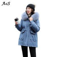 Mulheres para baixo parkas anbenser moda jaqueta de inverno mulheres grandes peles com capuz engrossar longo casaco fêmea magro outerwear xxl