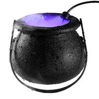 Halloween Witch Atomizer Lâmpada Dia das Bruxas Decoração Bruxa Fosco Potenciômetro Levado Fog Machine Lighting 3 Cores Changing Atmosphere Party Decoration