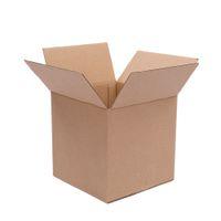 """Waco 6 """"x6"""" x6 """"caixas onduladas, caixa de correspondência de papel, papelão de papelão Kraft reciclado de parede único cubo, (pacote de 100)"""