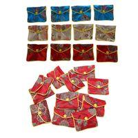 Bolsas de joyería, bolsas 12 PCS Bolsa de caja pequeña Bolsa de seda bordada Monedero de monedas, 80x65mm 6.2x7.8cm
