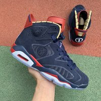 Top Quality Jumpman 6 VI 6s DB Doernbecher Midnight Navy Blue Suede Scarpe da basket in pelle scamosciata per uomo Sneakers sportivi Dimensioni 40-47