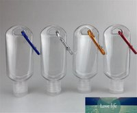 Qualità 50ML bottiglia vuota alcol ricaricabile con portachiavi gancio trasparente libero bottiglia di plastica Hand Sanitizer for Travel VV35