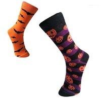 Mens calzini Halloween del progettista del Mens calzini zucca Spoof Stampato Mens calze di Natale Bat Moda