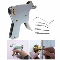 Reparación de desbloqueo pistola Key Lock Herramienta de cerrajería práctica Suministros Lock Candado Potente 6 juego de piezas de reparación de la herramienta al por mayor de pistola blanca pequeña